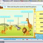 Un juego para practicar vocabulario según categoría. Hay varias categorías en el juego