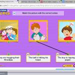 aprender unir la frase con la foto correcta